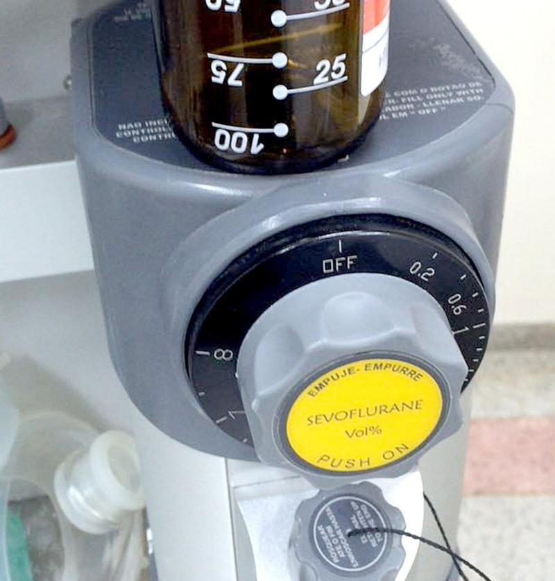 O gás anestésico é utilizado em alguns procedimentos