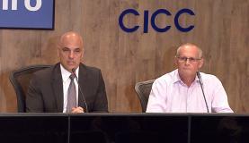 O ministro da Justiça, Alexandre de Moraes, e o secretário estadual de Segurança, José Mariano Beltrame, disseram que os culpados serão punidos Reprodução/TV Brasil
