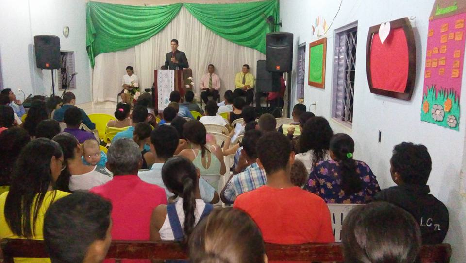 Foto da igreja pastoreada por Walyson Sousa em Colinas do Tocantins -Foto: Reprodução