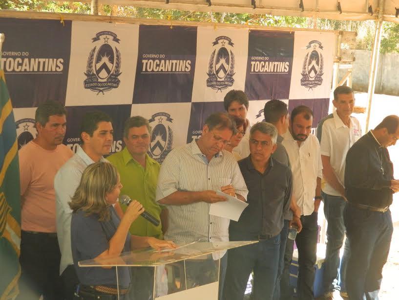 Inauguração ano passado com a presença do governador Marcelo Miranda e deputados.