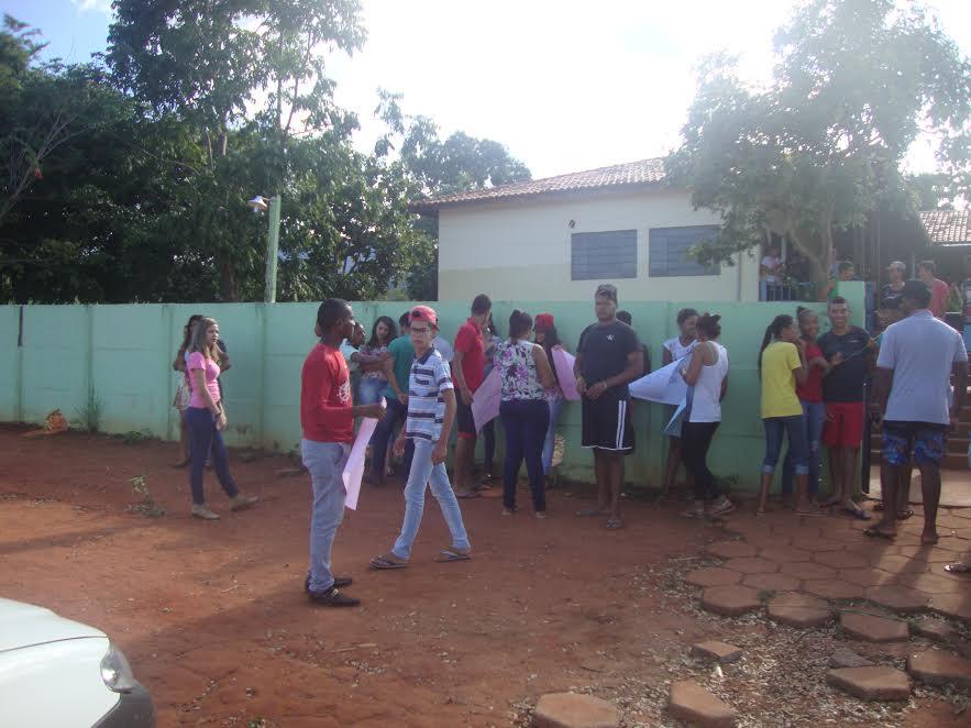 O ato em São Salvador do Tocantins é feito em defesa de uma educação pública de qualidade.