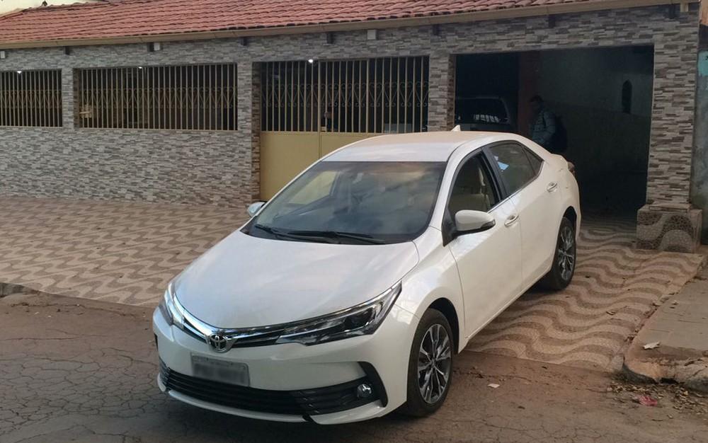Carro comprado por um dos líderes do grupo cerca de dois meses antes do início da operação (Foto: Polícia Civil/Divulgação)