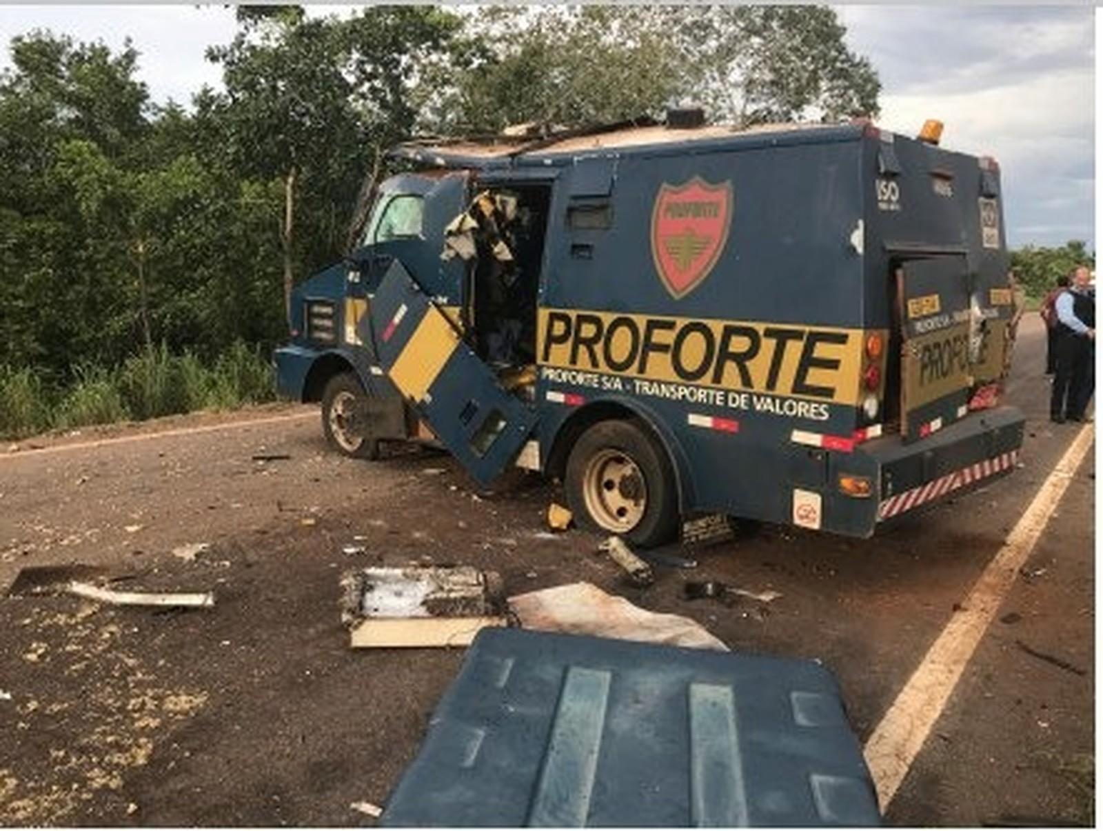 Mapa da notícia - caminhão forte e explodido